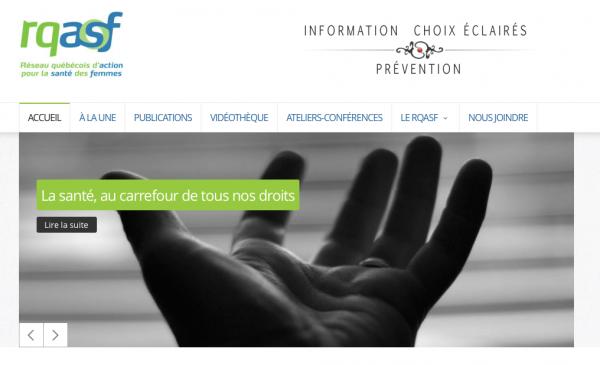 Photo du site Réseau québécois d'action pour la santé des femmes