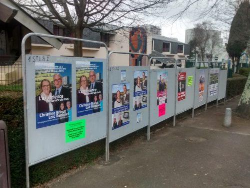 Élections départementales au bureau de vote de Calmette et Guérin