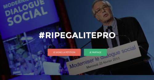 Photo du site SOS Egalité Pro !