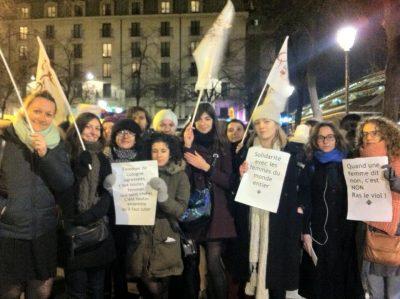 Rassemblement de soutien aux femmes de Cologne