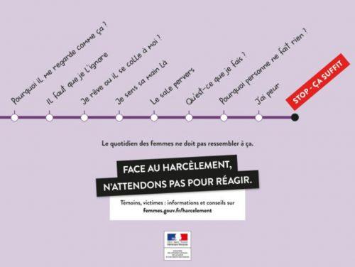Campagne contre le harcèlement dans les transports