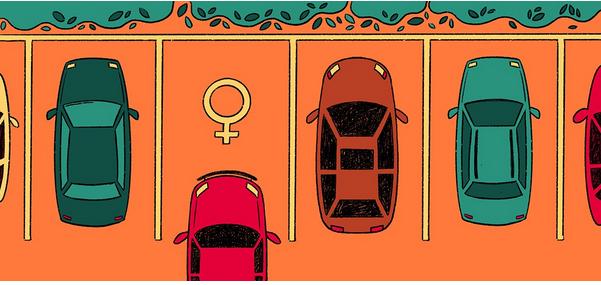 Place de parking femme