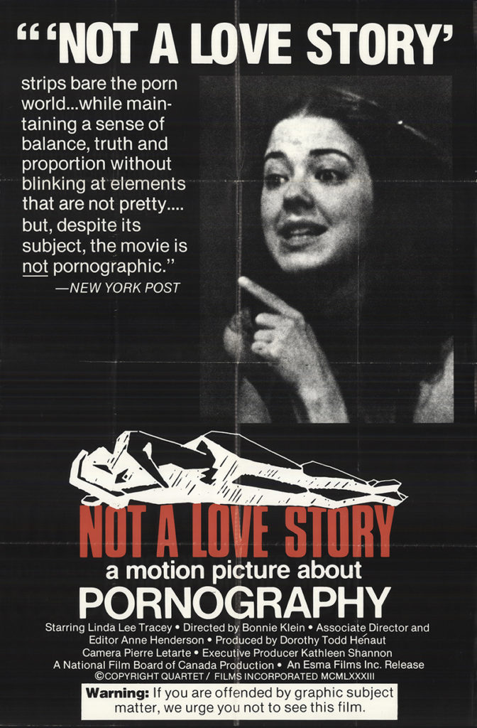 Pornography not a love story