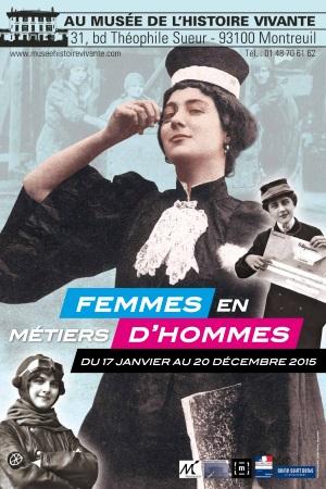 Photo de l'expo Femmes en métiers d'hommes