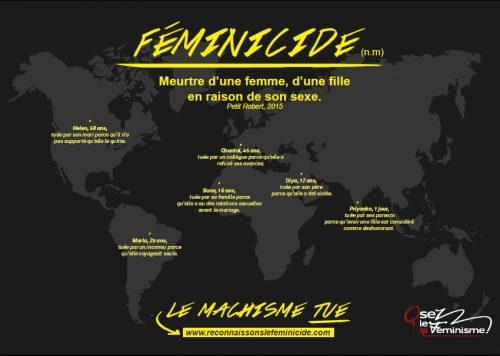 Affiche de la campagne OLF Reconnaissance du féminicide